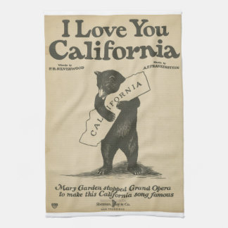 I Love You California Towel