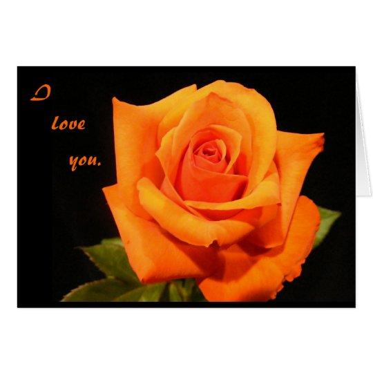 I love you. card