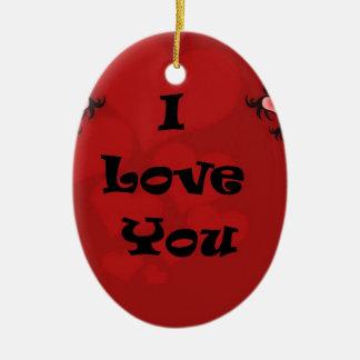 I love you  . . ceramic oval decoration