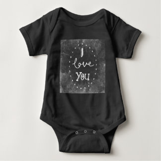 I Love you  chalk  Baby shirt Lighthouse route