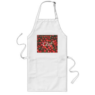 I Love You - Cherry design Long Apron