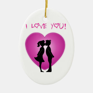 I Love You Christmas Ornament