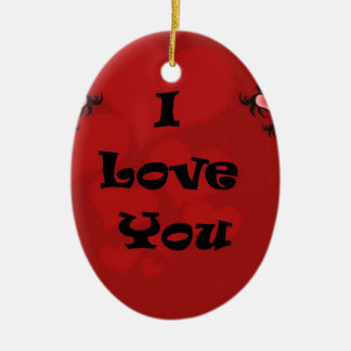 I love you  . . christmas ornament