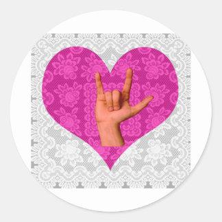I Love You ! Classic Round Sticker