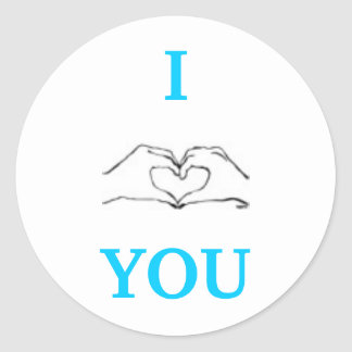 I LOVE YOU. CLASSIC ROUND STICKER