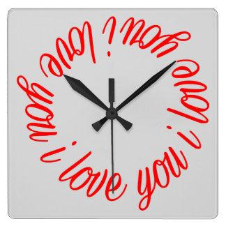 I love you clock