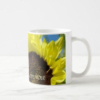 I LOVE YOU! Coffee Cup Mug Sunflowers Sunny