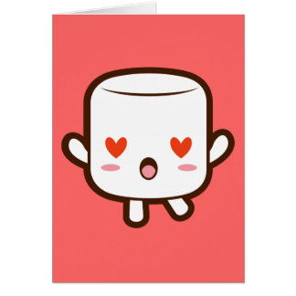 """""""I love YOU!"""" cute marshmallow Greeting Card"""
