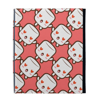 """I love YOU!"" cute marshmallow iPad Cases"
