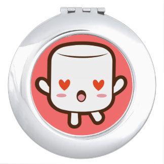 """I love YOU!"" cute marshmallow Travel Mirrors"