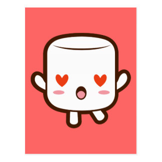 """I love YOU!"" cute marshmallow Postcard"