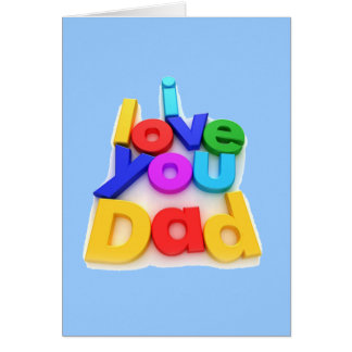 I love you Dad - Card