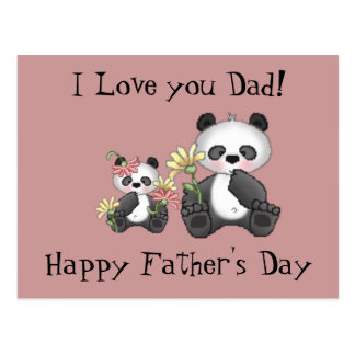I Love you Dad! Happy Father's Day Postcard