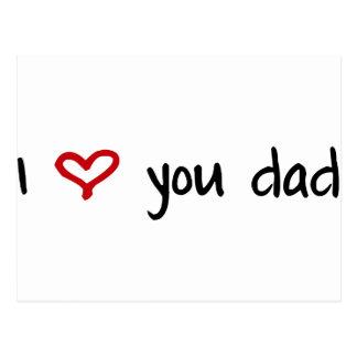 I Love You, Dad Postcard