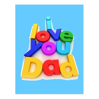 I love you Dad - Postcard