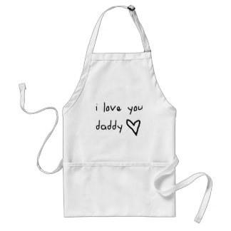 I Love You Daddy Aprons