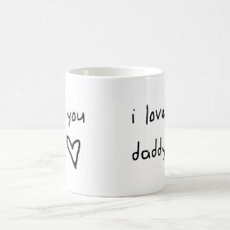 I Love You Daddy Basic White Mug