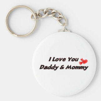 I Love you Daddy & Mommy Keychains