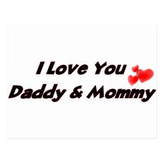 I Love you Daddy & Mommy Postcard
