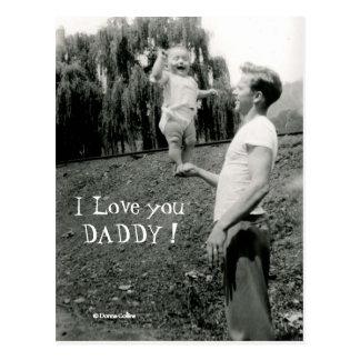 I love you Daddy Postcard