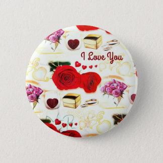 I Love You Decorative Button