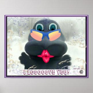 I Love you dino kisses Poster
