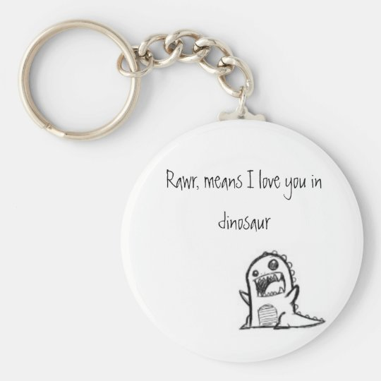 I love you dinosaur key ring