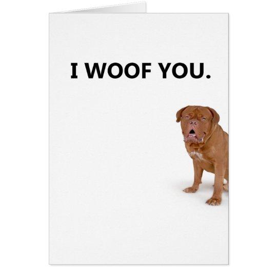I love you dog greeting card