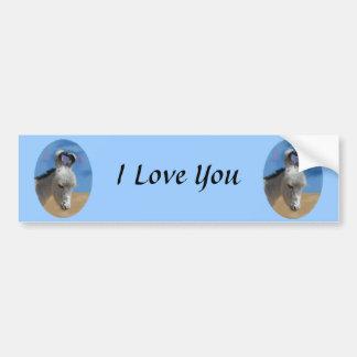 I Love You Donkey Car Bumper Sticker