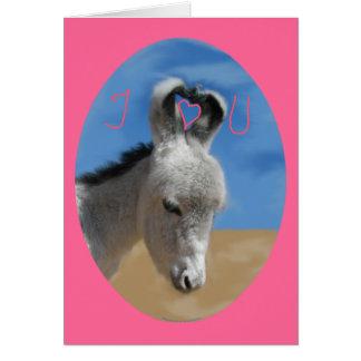 I Love You Donkey Greeting Card