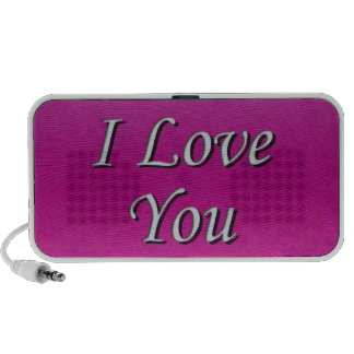 I love you Doodle Travelling Speakers