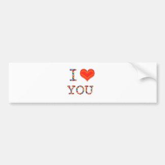 I LOVE YOU Elegant Script of Love n Romance GIFT Bumper Stickers