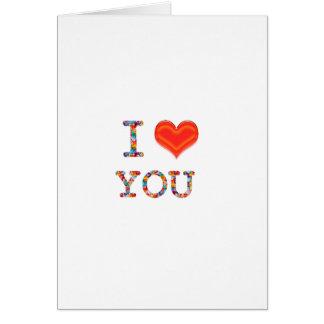 I LOVE YOU : Elegant Script of Love n Romance GIFT Greeting Cards