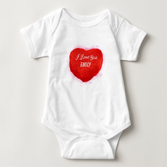 I Love You Emily Baby Bodysuit