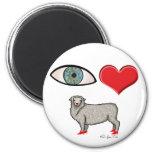 I Love You - Eye Heart Ewe 6 Cm Round Magnet