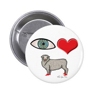 I Love You - Eye Heart Ewe Pinback Button