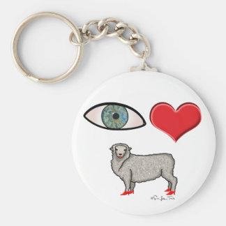 I Love You - Eye Heart Ewe Key Chains