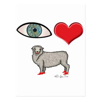 I Love You - Eye Heart Ewe Postcard