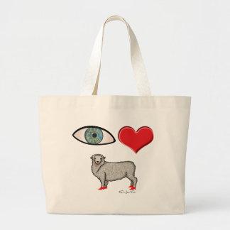 I Love You - Eye Heart Ewe Tote Bags
