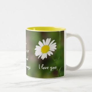 """I love you forever"" DAISY Mug"