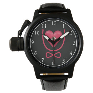 I love you forever Eye heart U eternity Wristwatches