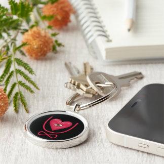 I love you forever Eye heart U eternity Keychain