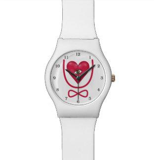 I love you forever Eye heart U eternity Wristwatch