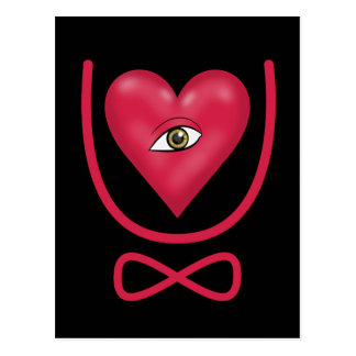 I love you forever Eye heart U eternity Postcard