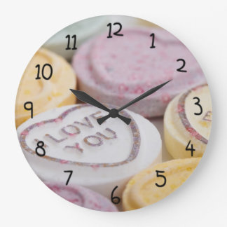 I Love You Forever Heart shaped Candy Large Clock