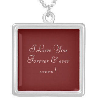 I Love You Forever Necklaces