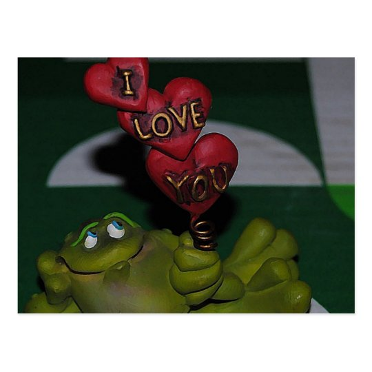 I Love You Frog Postcard