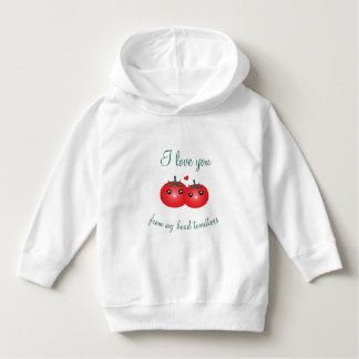 I Love You From My Head Tomatoes Cute Fruit Pun Hoodie
