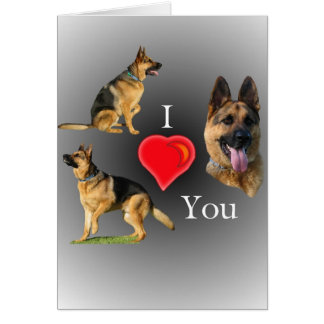 I Love You German Shepherd Greeting Card