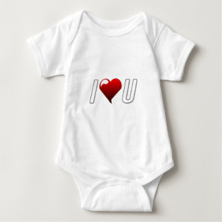 I love you gifts baby bodysuit
